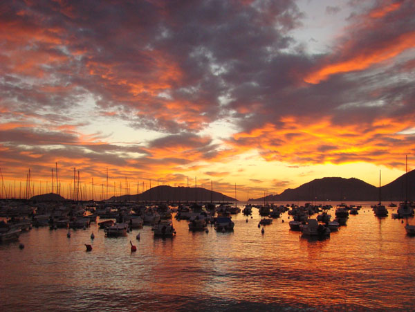 Sunset in Lerici